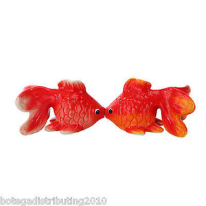 Gold Fish Ceramic Magnetic Salt and Pepper Shaker Fish Tank SP