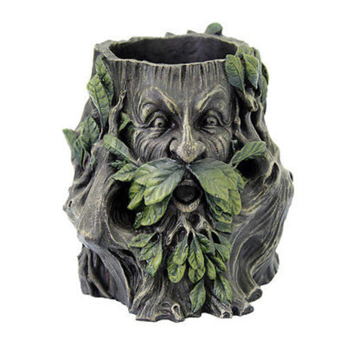 Greenman See Hear Speak No Evil Pen Holder Made of Polyresin