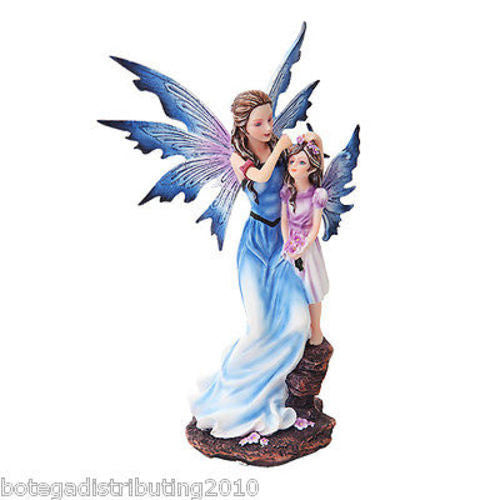 Mother and Young Girl Blue Winged Fairy