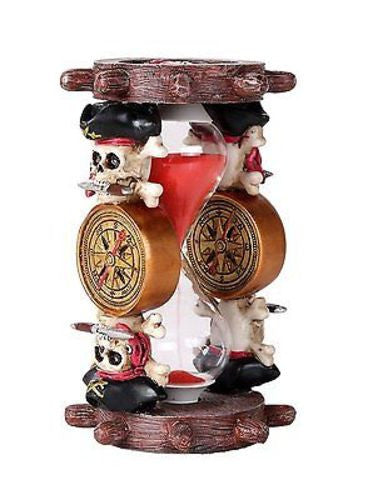 Pirates of the Black Sails Compass and Nautical Ship Wheel Sand Timer Hourglass