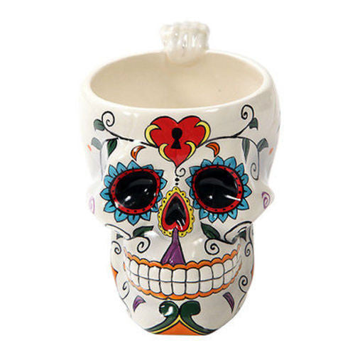 Dia de Los Muertos Sugar Skull Coffee Drinking Mug Day of the Dead Taza Cafe Tea