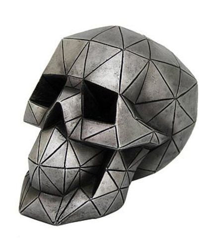 "Novelty Futuristic Geometric Shape Skull Collectible Figurine Home Decor 5"" Tall"