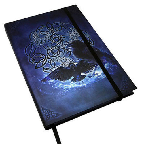 BRIGID ASHWOOD COLLECTION CELTIC RAVEN JOURNAL CUERVO CELTICO DIARIO