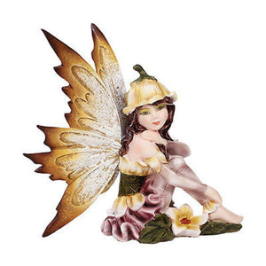Fairy Daydreaming Ada Flor Small Meadowland Tribal Flower Girl Figurine