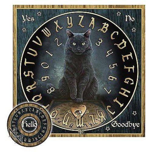 Lisa Parker Design Master's Voice Black Cat Ouija Board Celtic Spirits Mystical
