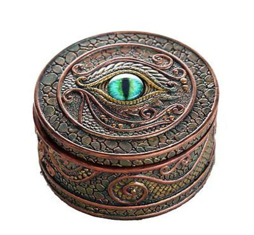 The Eye of the Dragon Mystical Trinket Box Fantasy Dragon Collection 3.75 Dia.