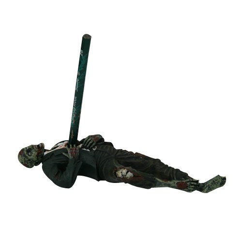 Zombie Laying Down Statue Figurine with Pencil Holder, 7""