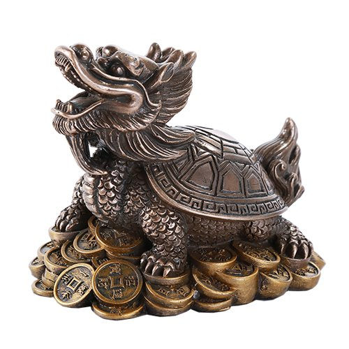 Feng Shui Money Dragon Tortoise On Coins Prosperity Home Decoration Gift