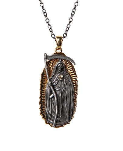 Santa Muerte Necklace Mexican Folklore Saint of Holy Death Necklace Lead Free Alloy