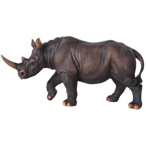 Wildlife Endangered Rhino Rhinoceros 11 Inch Collectible Figurine Statue Home Decor Gift