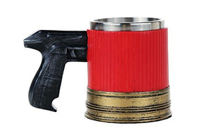 Novelty Pistol Handle with Shotgun Casing Coffee Mugs Gun Mugs Pistol Cup 11oz