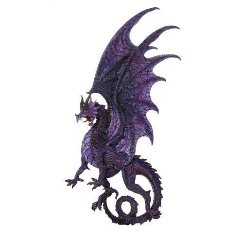Draconis Moon Purple Dragon Wall Plaque Wall Decor Collectible 34 Inch H