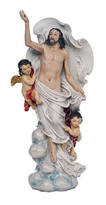 Ascension of Christ Jesus Christians Catholic Religous Figurine Sculpture 12 Inch