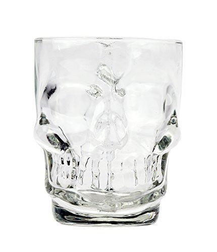 Novelty Glass Skull Face Drinking Mug 18oz Beer Juice Water Drinking Glasses