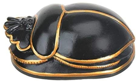 Egyptian Black Scarab Collectible Figurine