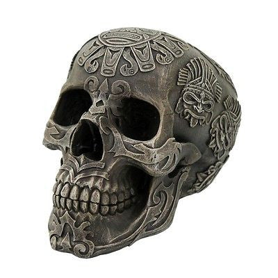 Aztec Skull Collectible Tabletop Decorative Accent Figurine 5 Inch