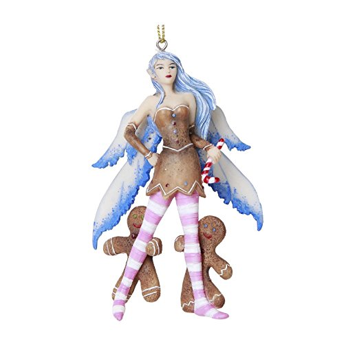 Christmas Fairy with Gingerbread Men Hanging Ornament Amy Brown Holiday Collection Christmas Tree Hanging Ornaments 4 inch