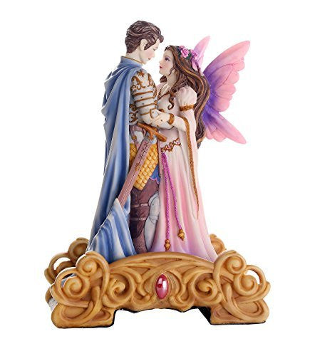 Prince Charming and Fairy Princess Eternal Love Fairy Tale Collectible Figurine 8.5H