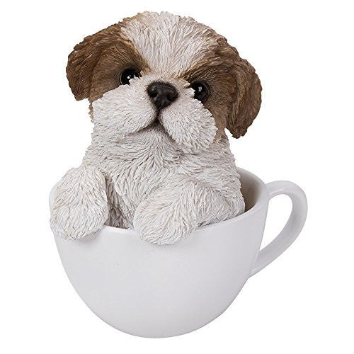 Adorable Teacup Pet Pals Puppy Collectible Figurine 5.75 Inches
