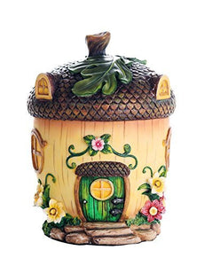 Miniature Fairy Garden of Enchantment Fairy Acorn Cottage Figurine Display 6.5 Inches
