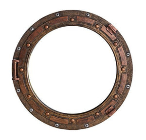Nautical Ship Porthole Mirror Wall Decor Rust Bronze Finish Nautical Decor