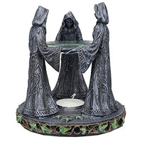 Triple Goddess Mother Maiden Crone Ceremonial Oil Diffuser Decorative Accessory 5.75 inch Tall