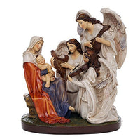 The Blessed Virgin Mary and the Song of the Angels Figurine Collectible Religious Sculpture