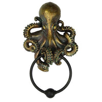 Decorative Octopus Kraken Resin Door Knocker with Cast Iron Knocker Wall Sculpture