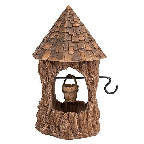 Miniature Fairy Garden of Enchantment Fairy Wishing Well Figurine Display 6.5 Inches