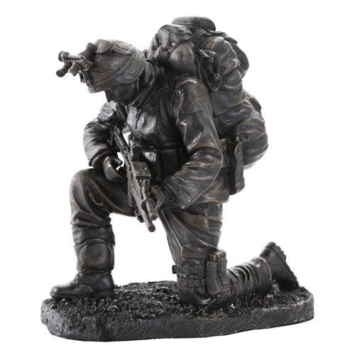 Prayer for the Safety of America's Finest Brave Soldier Military Heroes Collectible Figurine