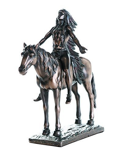 Appeal to the Great Spirit Bronze Finish Native American Indian Warrior Collectible Figurine 8 H