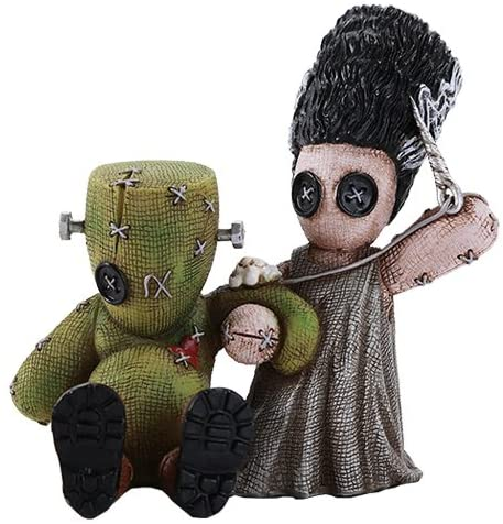 Pacific Giftware 4.5 Inches Pinhead Monster Frankenstein and Bride Love Sewing Doll