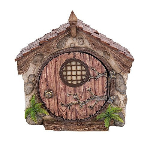 Miniature Fairy Garden of Enchantment Fairy Dome Cottage with Door Figurine Display 5.25 Inches