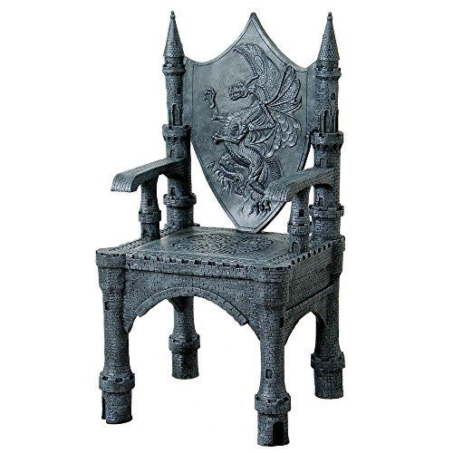 Dragon Mystical Castle Shield Throne Chair 48 Inch Tall