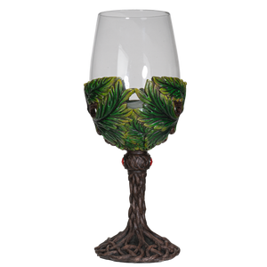 Mythical Forest Spirit Greenman Deity 16 fl oz Wine Glass Stemware Goblet Chalice Kitchen Home Decor