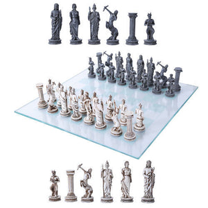 Greek Mythology Chess Set Pawns Glass Chess Board Roman
