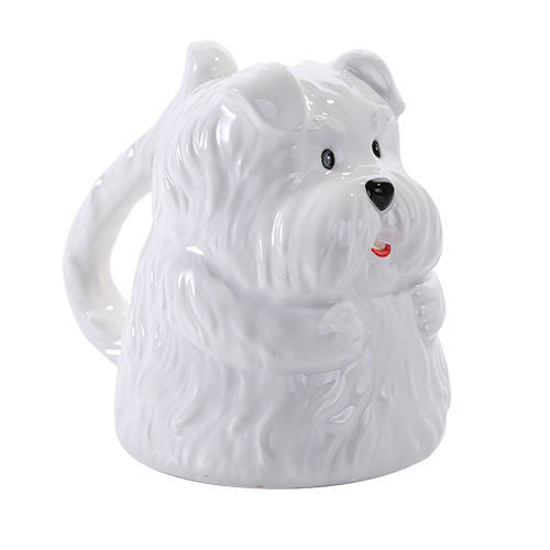 Topsy Turvy Maltese Dog Coffee Mug Adorable Mug Upside Down Tea Home Office