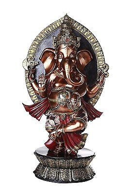 Hindu God Ganesha Elephant Headed Deity Large Statue 28.75 Inches Tall