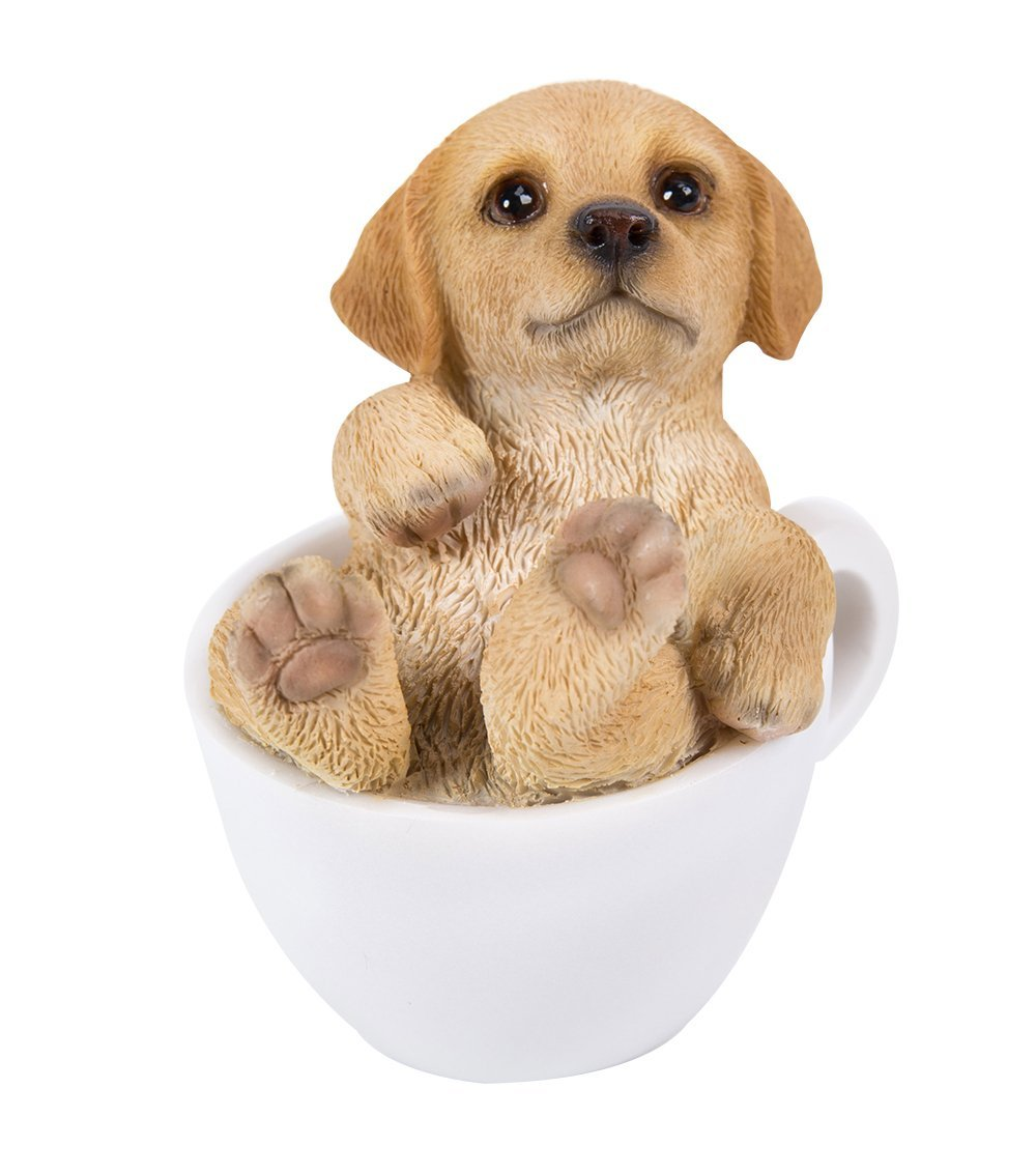 Golden Retriever Puppy Adorable Mini Teacup Pet Pals Puppy Collectible Figurine 3.25 Inches