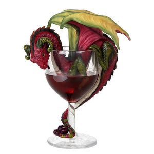 Red Sweet Wine Goblet Dragon Olive Collectible by Stanley Morrison