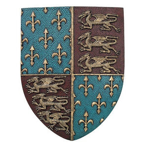 Medieval Times Royal Coat of Arms Shield Wall Sculpture Decor