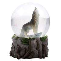 Howling Wolf Glitter Water Globe Collectible Water Ball
