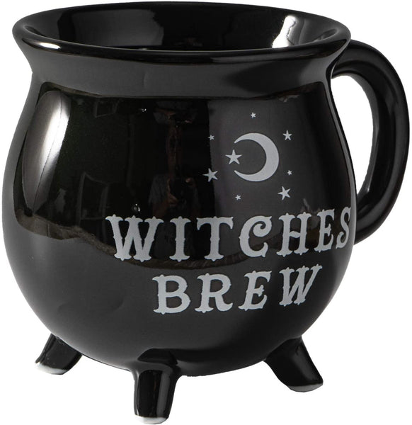 Botega Wordwide Witches Brew Cauldron Ceramic Mug Halloween 12 fl oz with Handle Tabletop Decoration