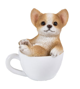Chihuahua Puppy Adorable Mini Teacup Pet Pals Puppy Collectible Figurine 3.25 Inches