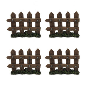 Enchanted Garden Decorative Wooden Picket Fence Fairy Garden