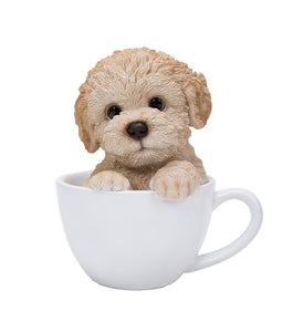 Poodle Adorable Teacup Pet Pals Puppy Collectible Figurine 5.75 Inches
