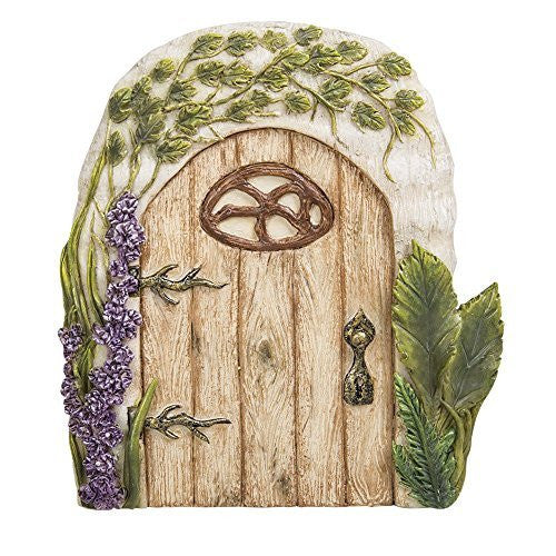 Miniature Fairy Garden of Enchantment Fairy Gnome Hobbit Oak Tree Cottage Door 4 Inches