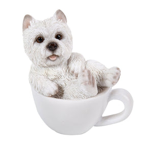 West Highland Terrier Westie Adorable Mini Teacup Pet Pals Puppy Collectible Figurine 3.25 Inches