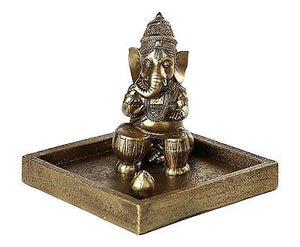 Hindu God Ganesha Elephant Headed Deity Meditation Incense Burner 6 inch