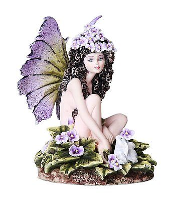"Viola Purple Violet Fairy ""Thinking of You"" Fantasy Collectible 4.75 Inches"